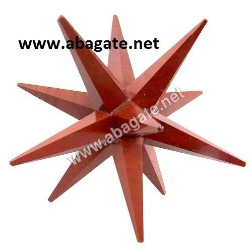 Red Jasper-12-Point Markaba Star