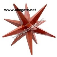 Red Jasper-12-Point Markaba Star