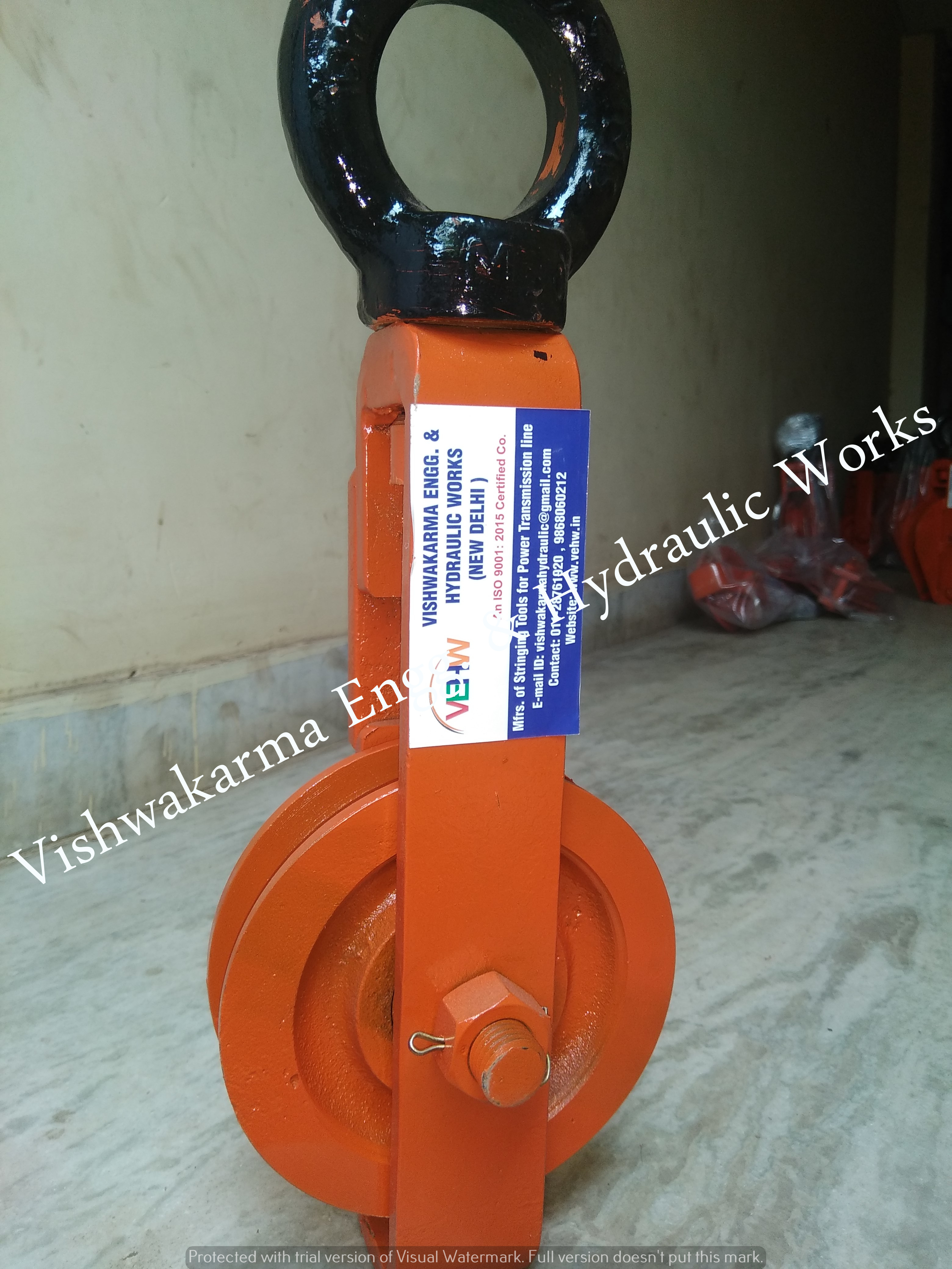 Four Sheave Pulley Block