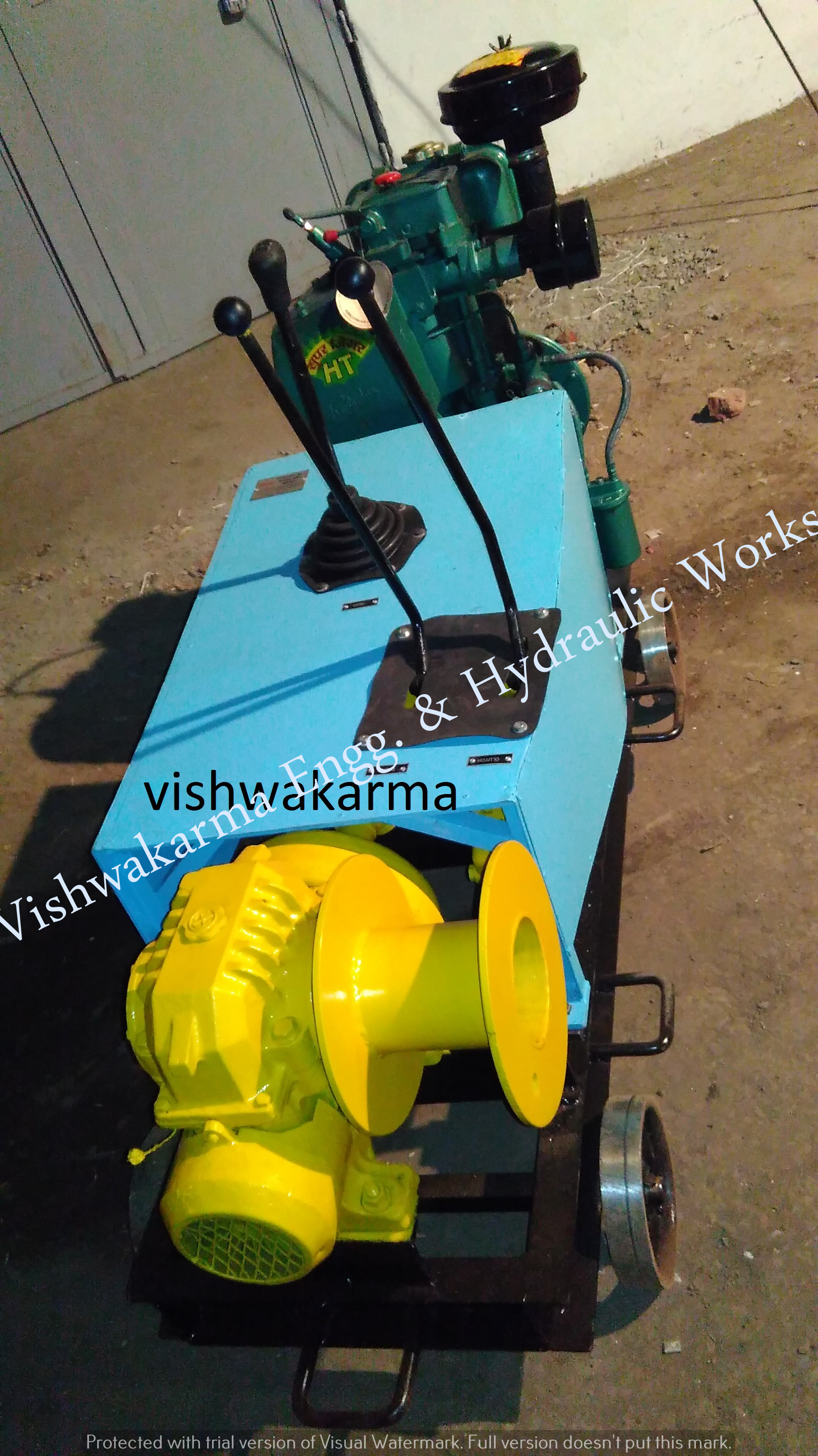 Diesel Power Winch Machine