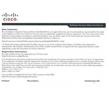L-LIC-CT5508-100A,250A CISCO 5500 Series Wireless Controller License