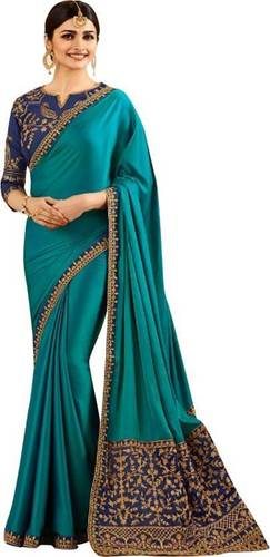 Silk Embroidery Saree