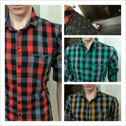 Mens Cotton Check Shirt