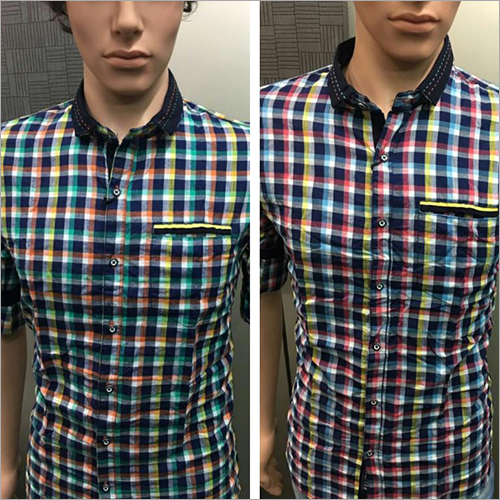 Men Twill Checked Shirt