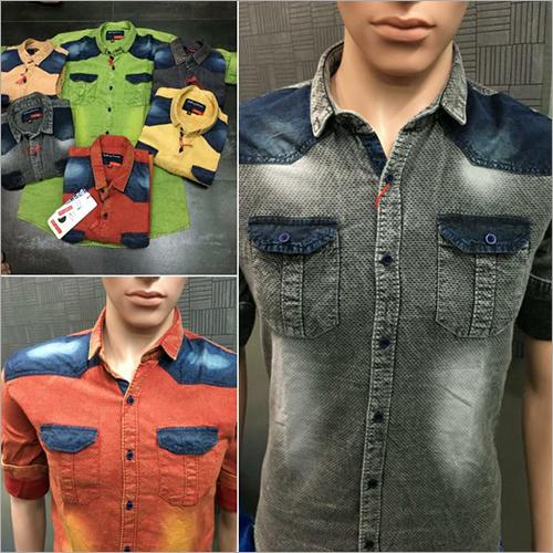 Mens Indigo Dobby Shirt