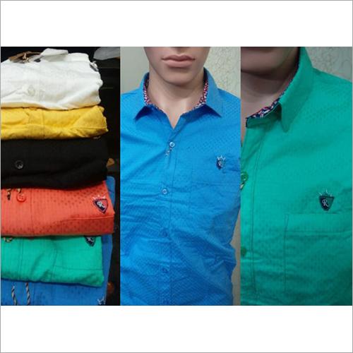Mens Plain Dobby Shirt