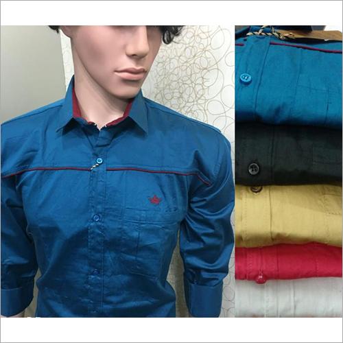 Mens Plain Satin Shirt