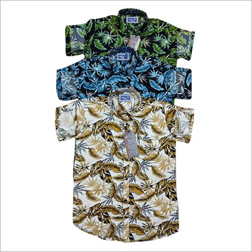 Mens Party Wear Flora Printed Shirt