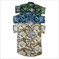 Mens Party Wear Flora Printed Shirt