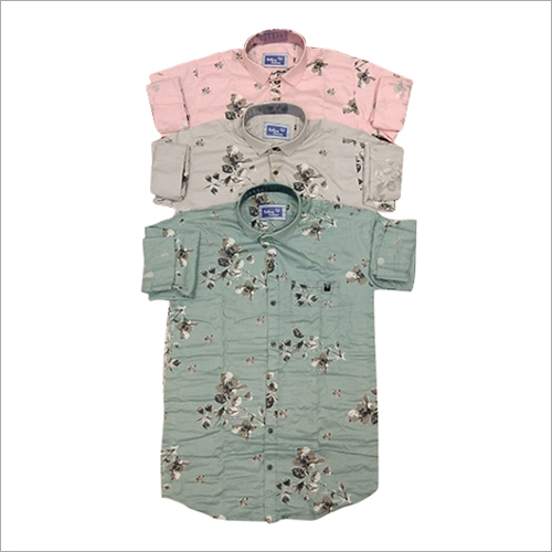 Cotton Flora Printed Shirt
