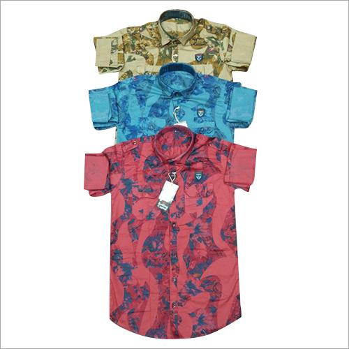 Lycra Print Cargo Look Shirt