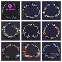 Natural Labradorite 925 Silver Bracelets