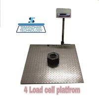 1500X1500 2000Kg Heavy Duty Platform Scales