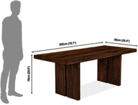 Solid wood Dining table set Adjoiner