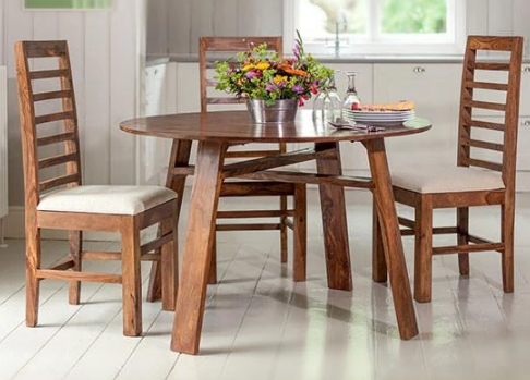 Solid wood Round Dining table set Mystir