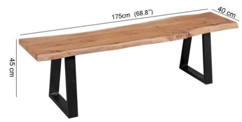 Wooden dining table iron mix Criston