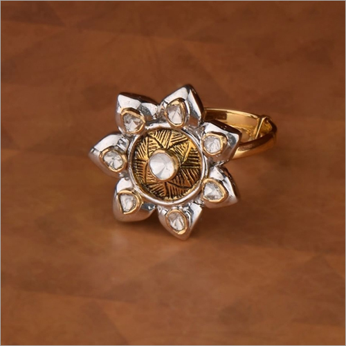 Gold Flower Finger Ring