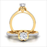Gold Diamond Finger Ring
