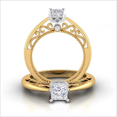 Ladies Gold Engagement Ring