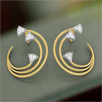 Gold Stud Fancy  Earrings