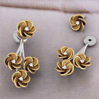 Ladies Gold Stud Earrings
