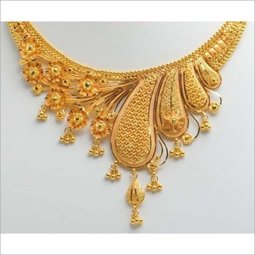 Fancy Wedding Gold Necklace