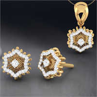 Ladies Stylish Gold Pendant Set