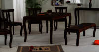 Solid wood Dining table set Swirler