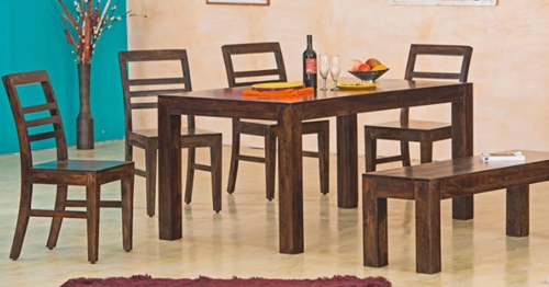Solid wood Dining table Set Lucid