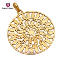Gold Plated Plain 925 Silver Pendant