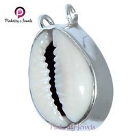 Natural Sea Shell ( Kodi )  925 Silver Pendants