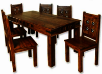 Wooden dining table set Sweden