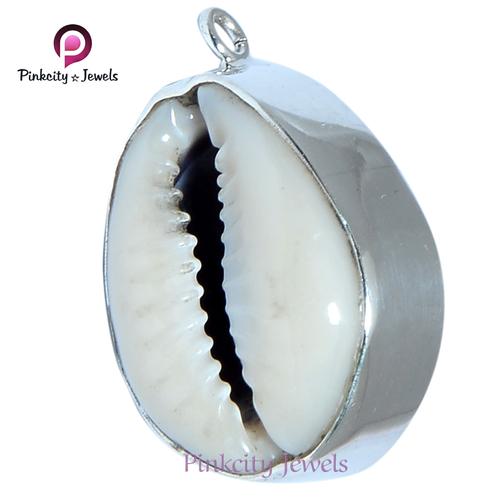 Natural Sea Shell ( Kodi ) 925 Silver Pendants