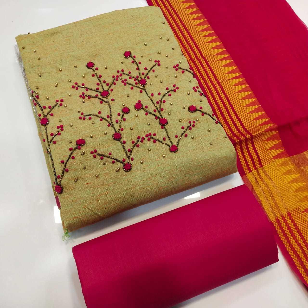 kundan dress material