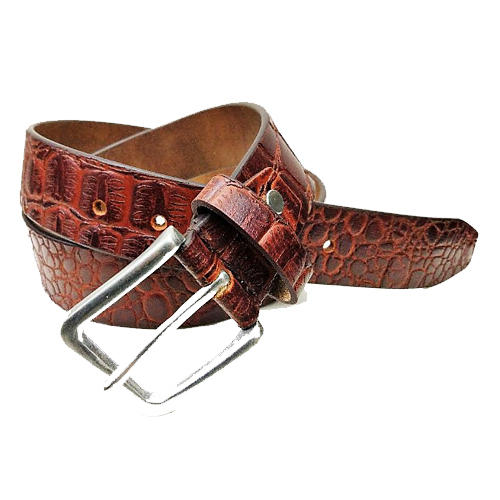 Croco Single layer High Quality leather belt for men and women