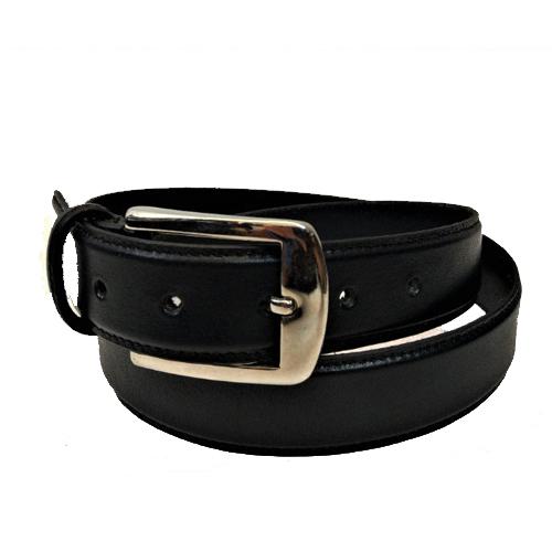 Black Leather Dress Belts