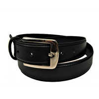 Black Leather Dress Belts