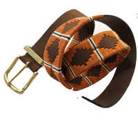 Brown and ivery leather weaved  Polo Belts