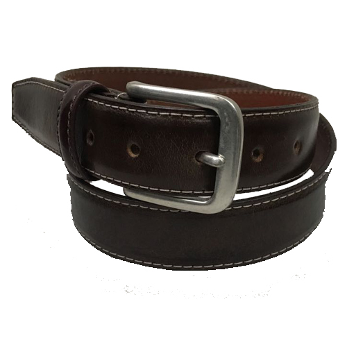 Full Grain Black Profile Belt.