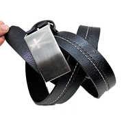 Black Printed Single Layer Belt
