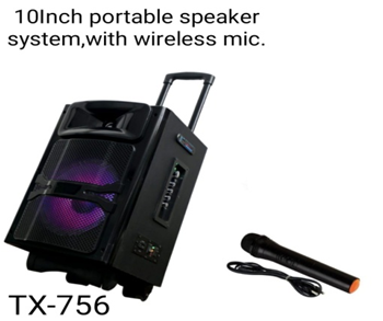TX-756  SPEAKER WIRELESS MIC (10 INCH)