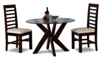 Solid wood Round Dining table Set Mihira