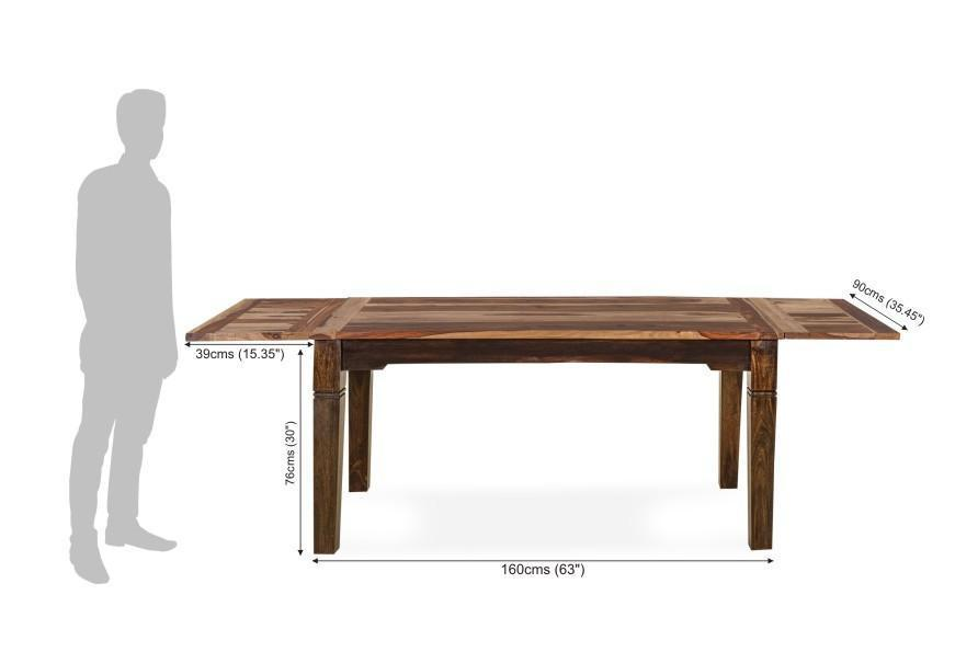 Solid wood Dining table Set Extendable Monarch