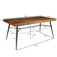 Wooden Dining table With iron mix Ritzy