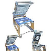 5 Cavity Tray Sealer Machine