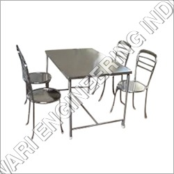 Stainless Steel Dining Table And Chair
