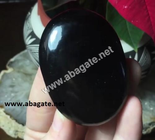 Black Obsidian Palm Stone
