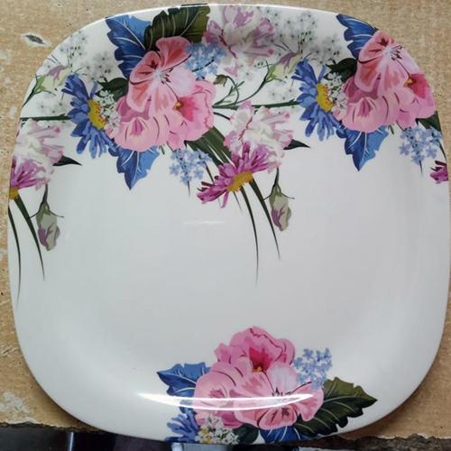 Floral Print Dinner Plate