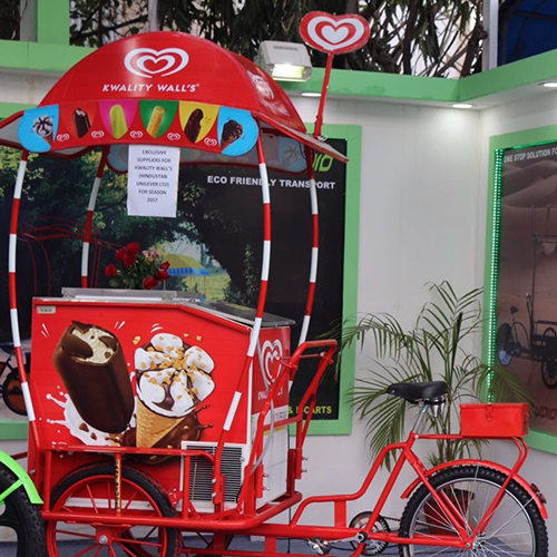 Refrigerated Ice Cream Cart