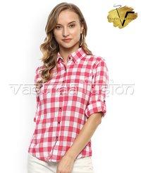 Ladies Check Cotton Shirts